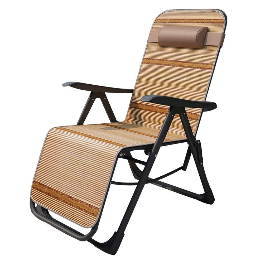 折りたたみリクライニングチェア夏マット昼休み椅子老人ロッキングチェアポータブルサマーバルコニーレジャーチェアは200kgに耐えることができます A## (Color : A) B07SYYLC9J A