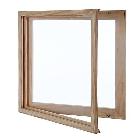 kaiu Disco de vinilo marco – madera maciza con acrílico transparente para mostrar su álbum –