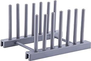 Dish Rack - Zerdie Foldable Dish Bowl Drying Drain Rack, Stand Drainer Storage, Plate Rack Pot Lid Holder