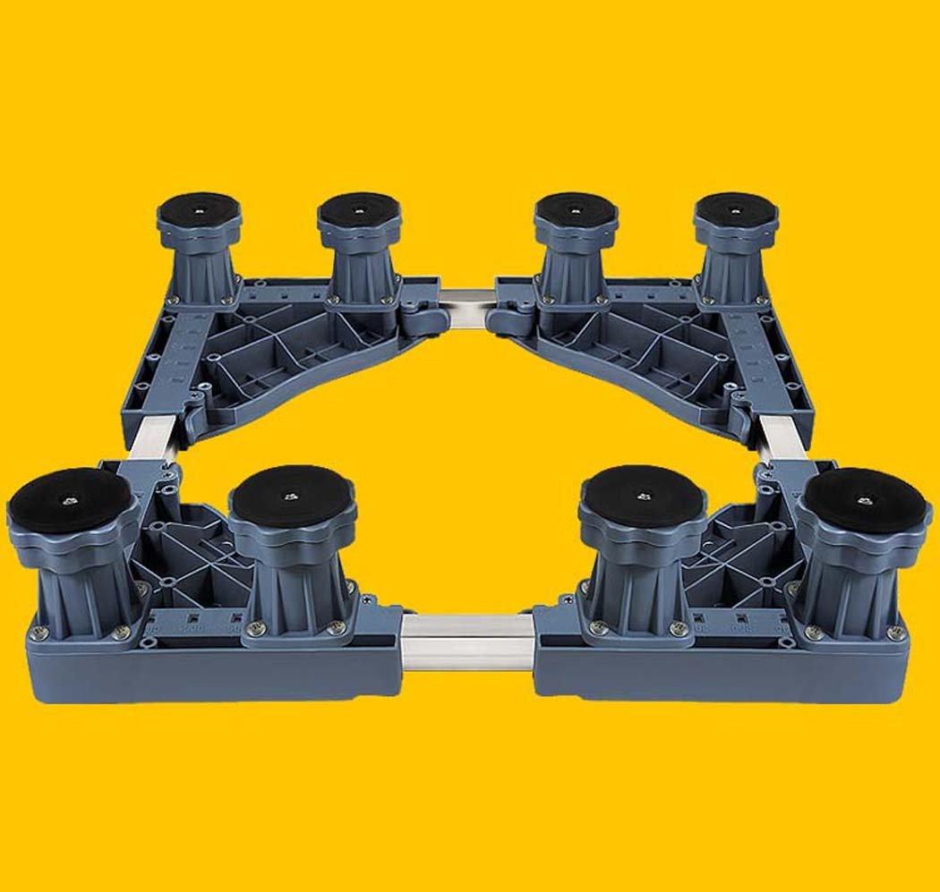 DSHBB Washing Machine Base,Automatic Heightening Heightening Universal Caster Stand,Stainless Steel Bracket For Washing Machine Pedestal Fridge Base Rack (Color : Gray)