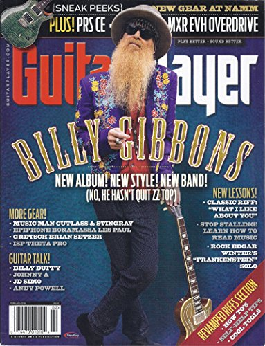 (Guitar Player Magazine (February 2016 - Cover: Billy Gibbons))
