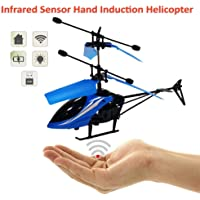 Infrared induction Helicopter Sensor Aircraft (Without Remote) USB Charger Flying Heli Plane with Flashing Light Toys for Boys and Girls