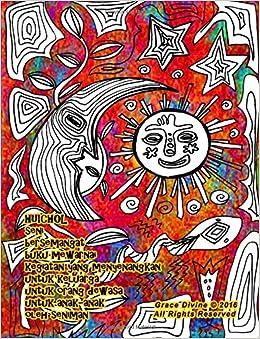 Huichol Seni Bersemangat Buku Mewarnai Kegiatan Yang Menyenangkan