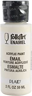 product image for FolkArt Enamel Glass & Ceramic Paint in Assorted Colors (2 oz), 4002, Warm White