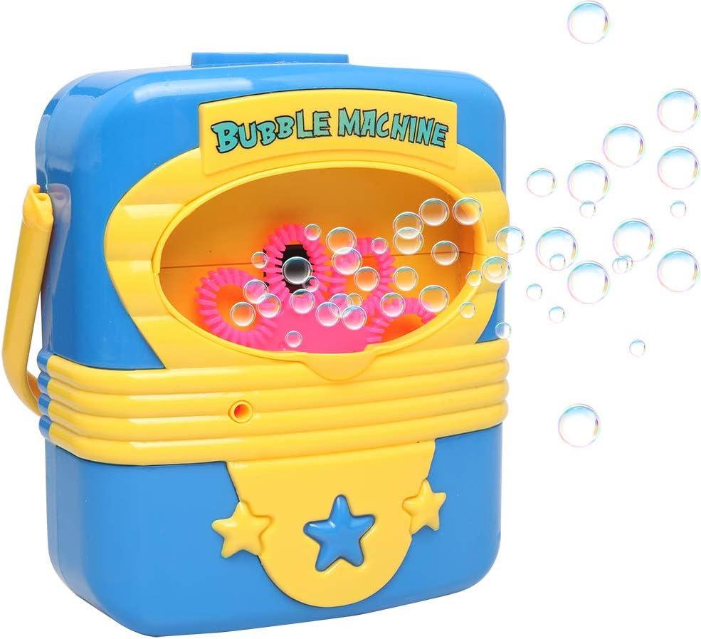 Ellien Máquina de Burbujas Máquina Bubble, Bubble Máquina automática Bubble Blower Bubble Maker Juguetes para los Niños Lectura en Plein Air, Fiesta, Boda