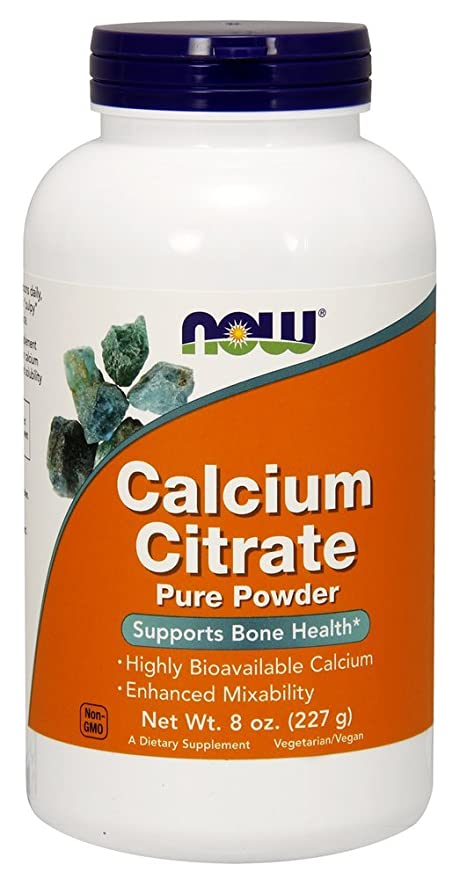 Now Foods | Citrato de Calcio (calcium citrate) | Polvo puro vegano | 8