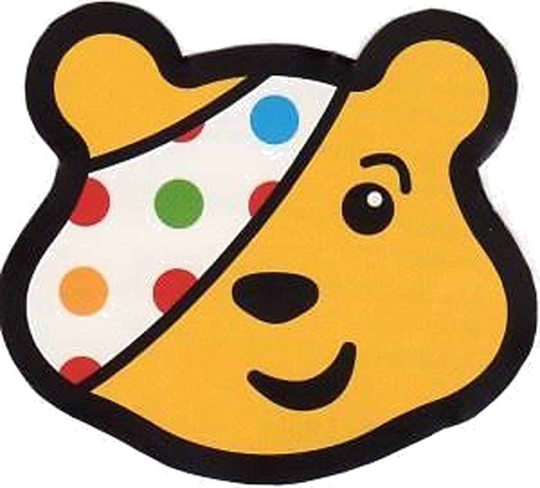 Children In Need Multi Colour Polka Dot Child size Eye Patch Pudsey ...