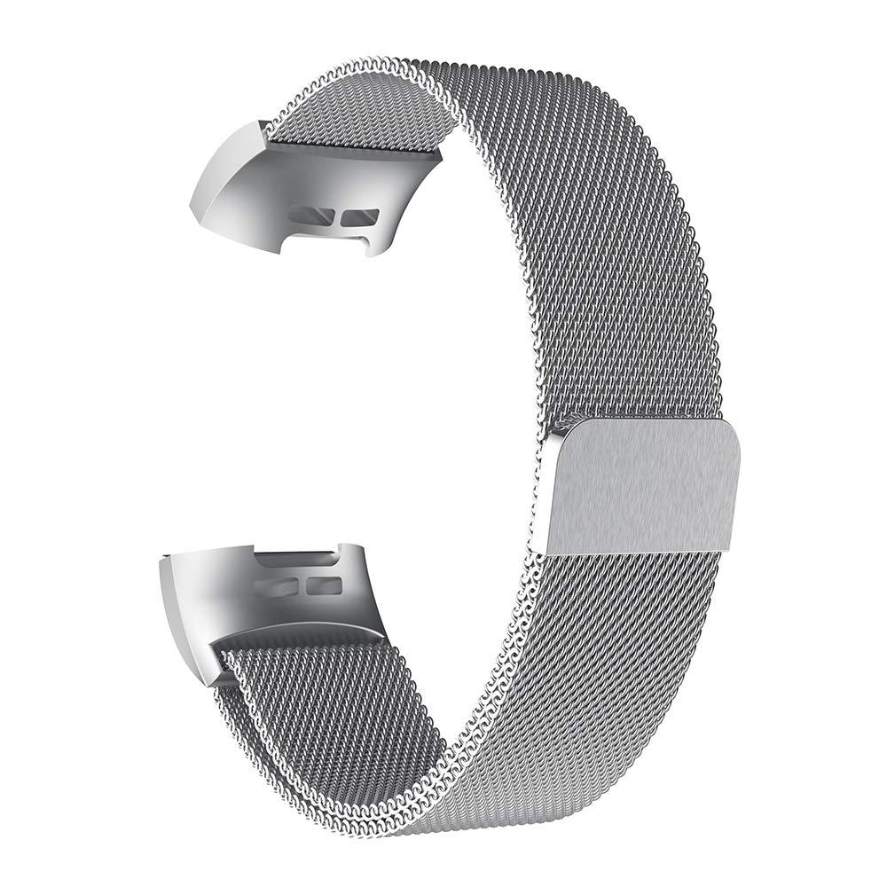 yunshan Bracelet de Rechange milanaise en Acier Inoxydable pour Fitbit Charge 3