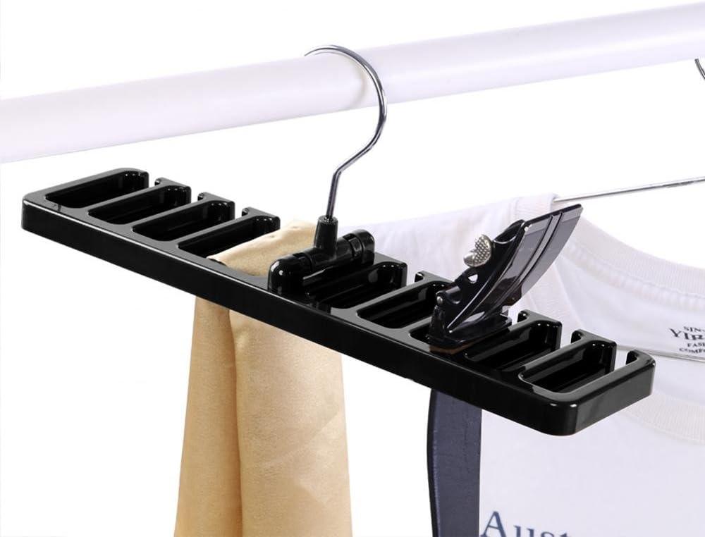 braun Fdit G/ürtelhalter Rack Halter 10 Slot Tie G/ürtel Schal Rack Organizer Robuste Kunststoff Schrank Kleiderschrank Space Saver