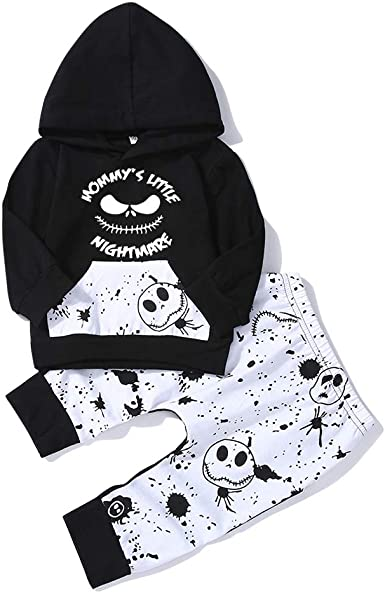 SUSSURRO Newborn Infant Baby Boy Outfit Long Sleeve 2pcs Hoodie Outfit Clothes