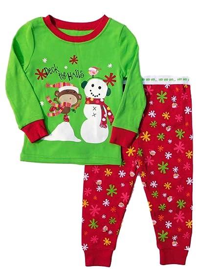 eb65411fe Amazon.com  Infant   Toddler Girls Deck The Halls Holiday Sleep Set ...