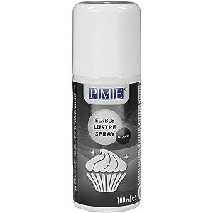 PME Edible Lustre Spray, Black, 3.3 Ounce
