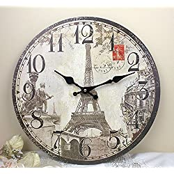 11'' Paris Eiffel Tower Monuments Wall Clock, HH310