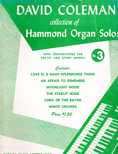 David Coleman Collection of Hammond Organ Solos (No. 3)