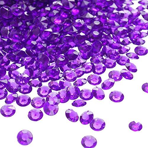 craftjoje 4.5MM 10000pcs Wedding Table Scattering Crystals Acrylic Diamonds Wedding Bridal Shower Party Decorations Vase Fillers (4.5mm, Dark Purple)