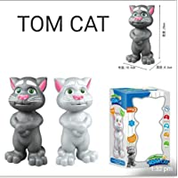 Bingo Talking Tom Toy for Kids Speaking Intelligent Touching and Mimicry Talking Tom Cat with Wonderful Voice(Grey)