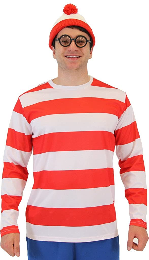 Where's Waldo Wally Deluxe Adult Costume Set