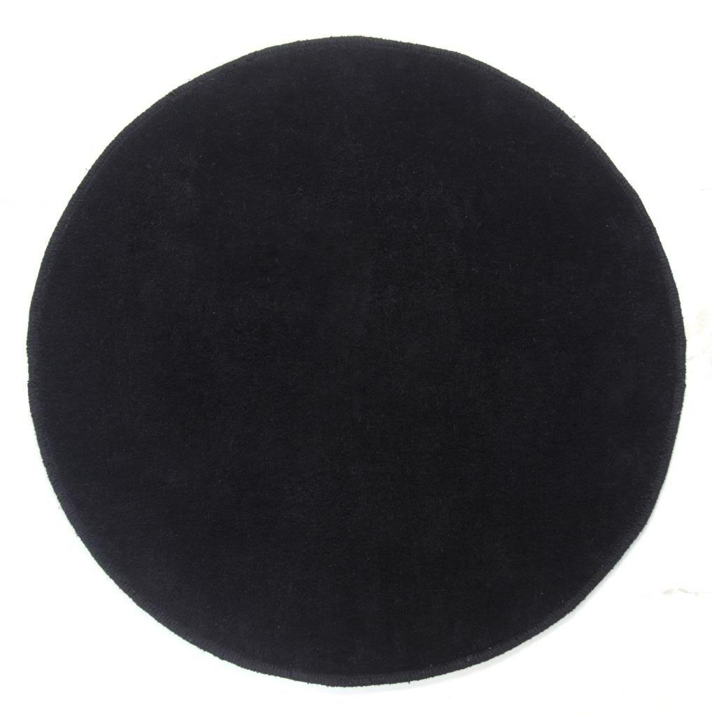 Homescapes Dekorativer Kurzflor Teppich rund schwarz - 150 cm
