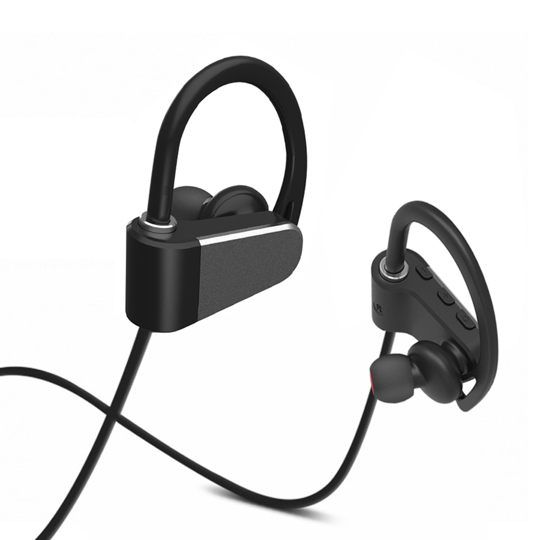 Auriculares Bluetooth auriculares inalámbricos, Mostrar Wish ligera, IPX4 A prueba de sudor Deportes Auriculares con micrófono y 7 horas tiempo de ...