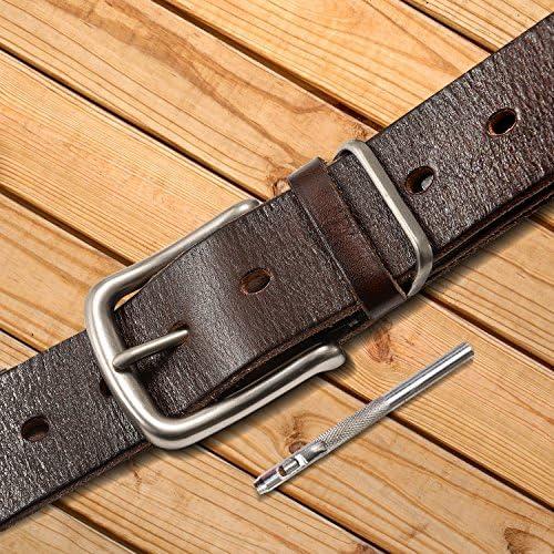 SOVARCATE Herren Gürtel, Vollnarbenleder Ledergürtel Gürtel Jeans Gürtel Super Soft Casual Gürtel für Männer Breit 1,5