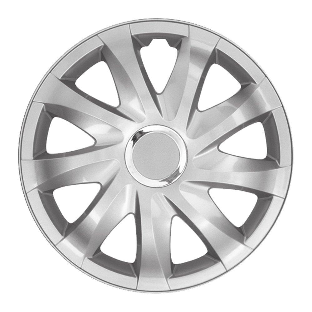 Tapacubos - Tapacubos Tapacubos DRIFT Plata 13 pulgadas 13? R13 universal apto para casi todos los vehículos estándar con llantas de acero por ejemplo ...