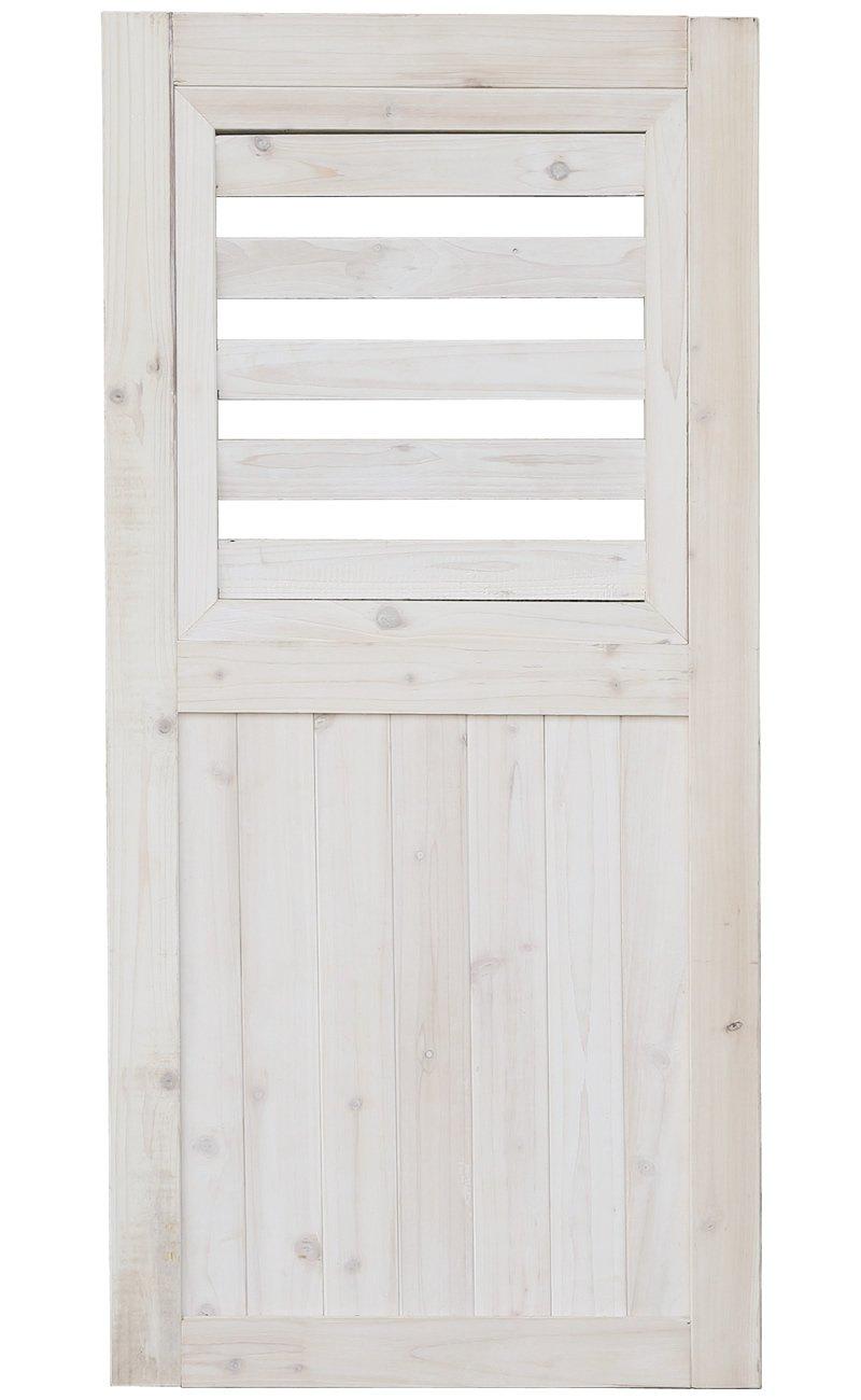 ゲートやハンギングに シェッドファサードヴォレー(閂錠/蝶番付) 高さ115cm ウォッシュホワイト SFV-550WHT B00CY5IC9U ホワイト ホワイト