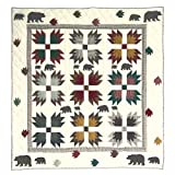Patch Magic 50-Inch by 60-Inch Bear's Paw Throw