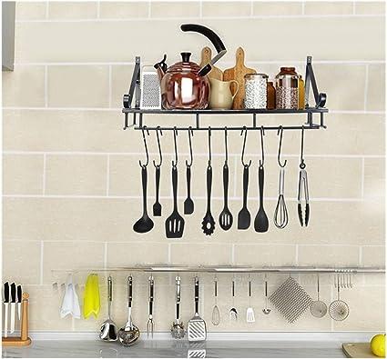 Amazon.com: Fxbar,Kitchen Shelf Kitchen Wall Hanging Pot ...