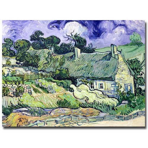 Cottages at Auvers-sur-Oise by Vincent van Gogh, 26 by 32-Inch Canvas Wall Art ()