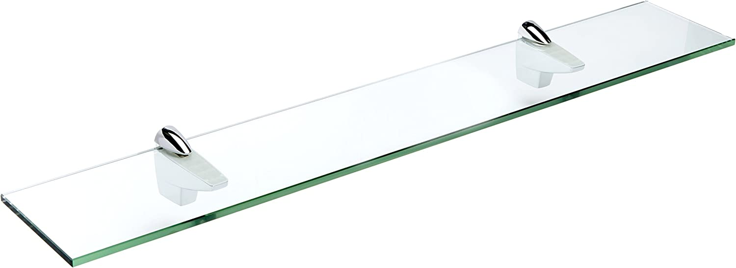 Spancraft Glass Falcon Glass Shelf, Chrome, 6 x 18