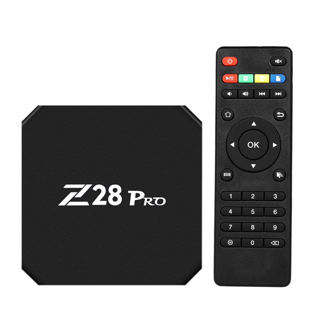Walmeck Smart Android 7.1 TV Box,Z28 PRO,RK3328 Quad Core 64 Bit UHD 4K VP9 H.265 4GB/32GB 2.4G/5G WiFi BT4.1 HD Media Player Display Screen US Plug