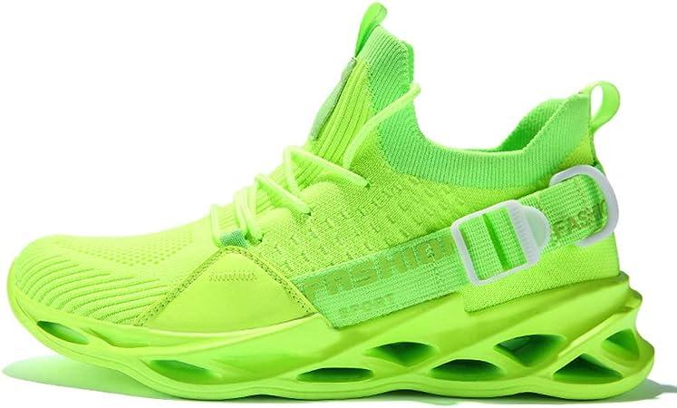 SXFGML Zapatillas Running Hombre Sneakers Calzado Deportivo Hombre Zapatos Transpirables Gimnasio Caminar,Fluorescent Green,39: Amazon.es: Hogar