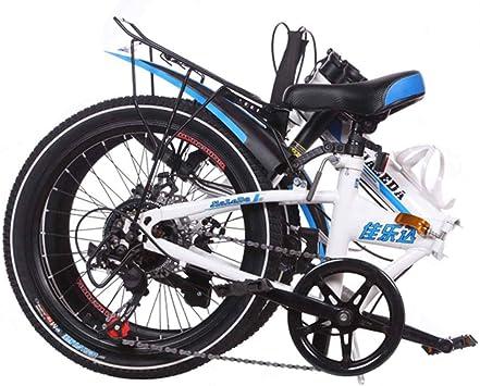 MYMGG Bicicleta Plegable De Acero Al Carbono De 20 Pulgadas ...
