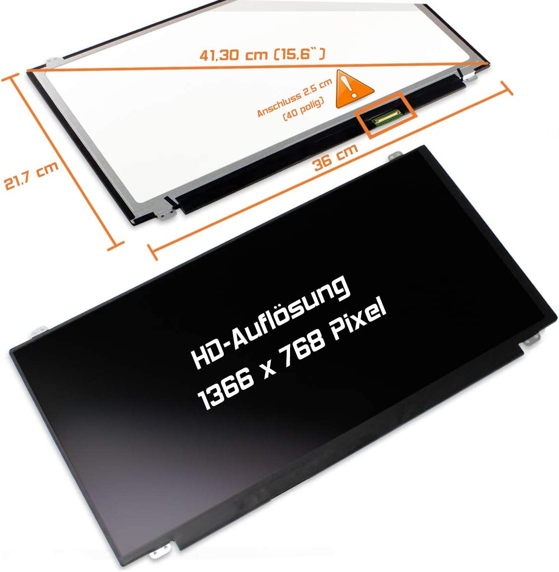Laptiptop 15,6 LED Display 1366x768 WXGA HD matt Ersatz f/ür HP 350 G2
