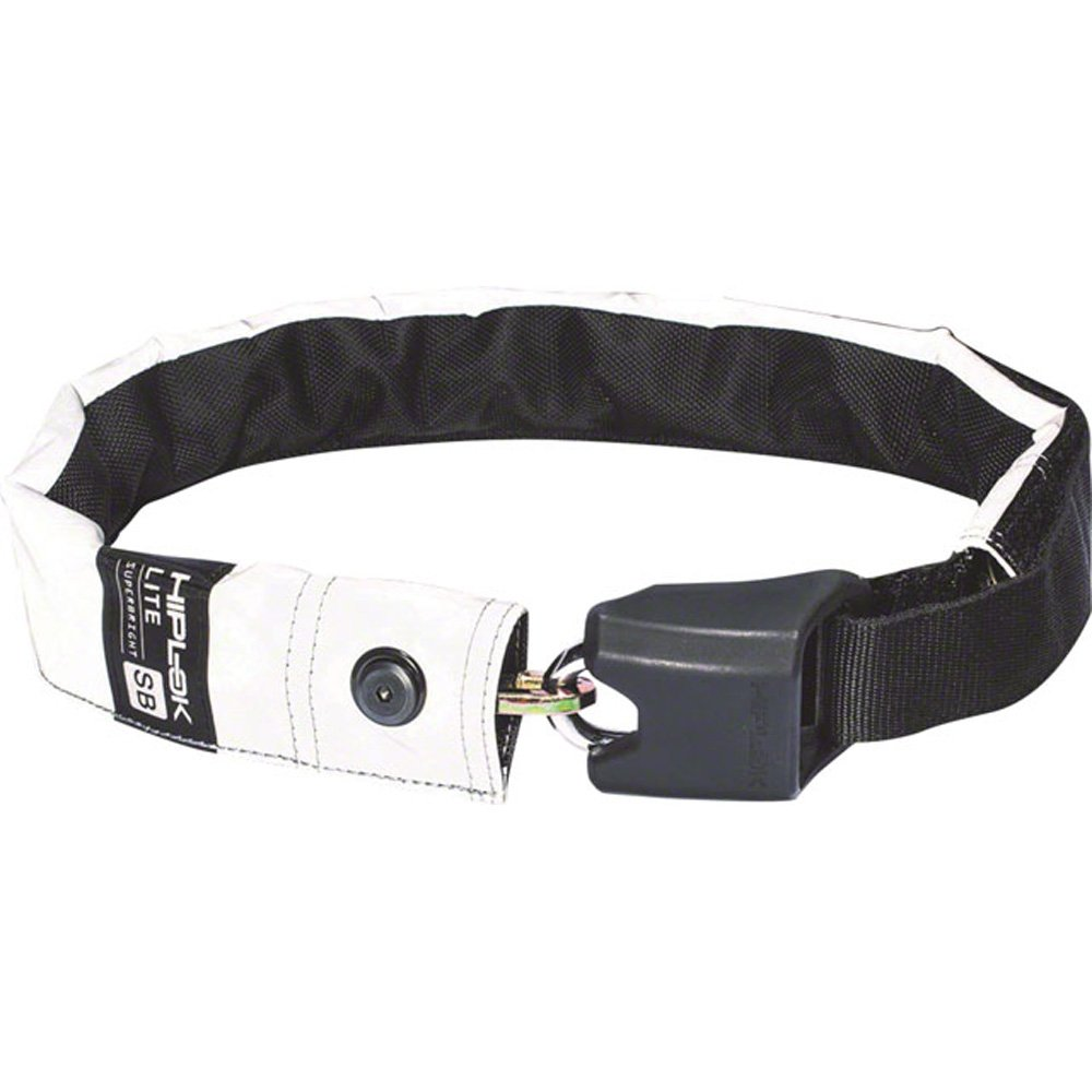 Hiplok LITE Superbright Wearable Hardened Steel Chain Lock: 8mm White Reflective