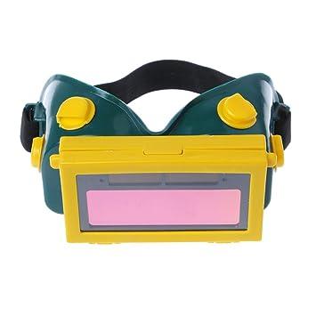 Dabixx Gafas de Soldador, Pro Solar Auto Oscurecimiento Soldadura Máscara Casco Gafas Gafas Soldador - Amarillo: Amazon.es: Hogar