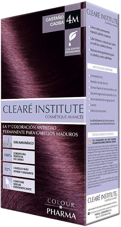 Colour Pharma|Tinte Sin PPD ni Amonicaco | Coloración Antiedad | 100% Cobertura de Canas Rebeldes, Con Serum Redensificante | 4M. Castasño Caoba ...