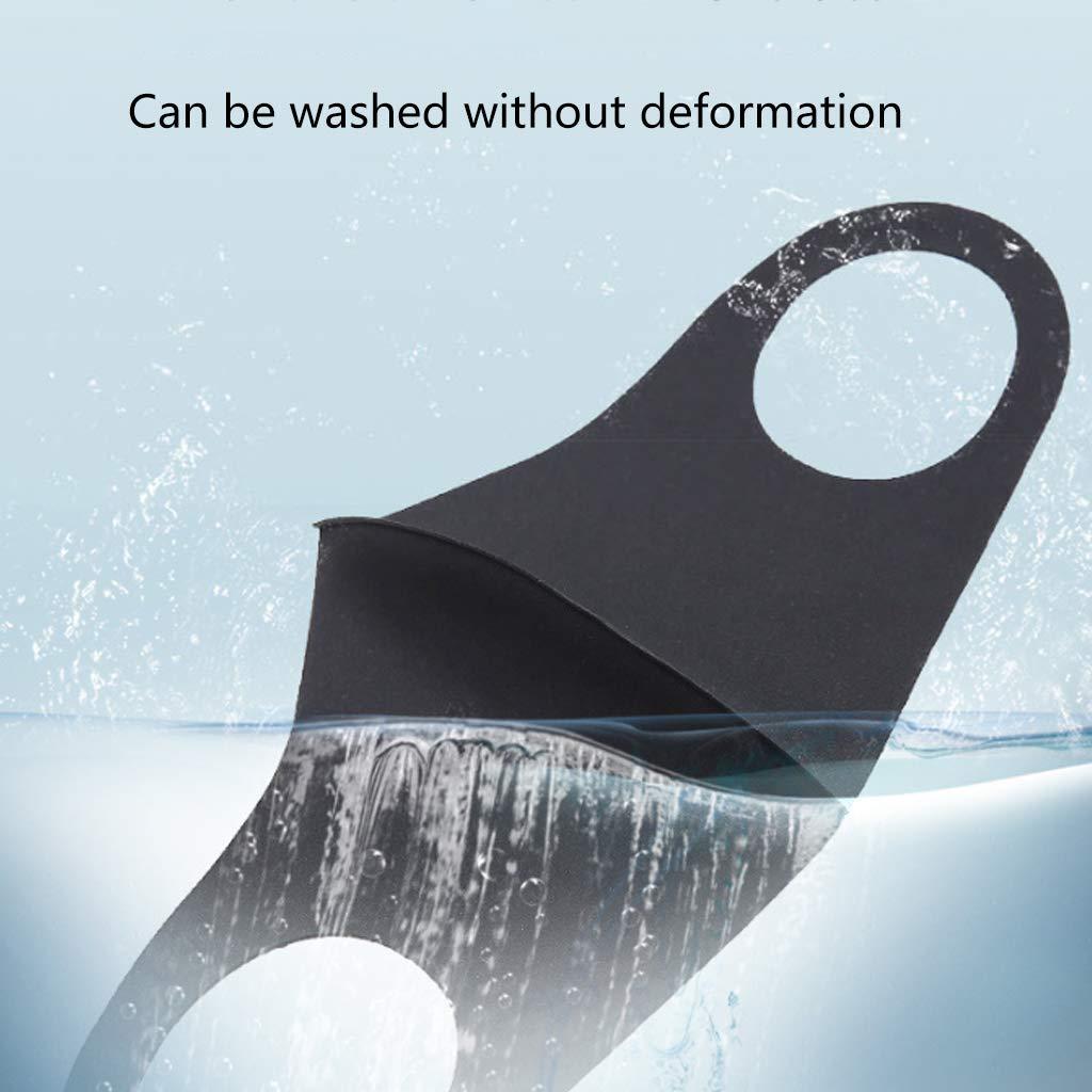 Wiederverwendbar Und Verstellbar (3 St/ück//Beutel) HR-COME Waschbarer Anti-Staub-Gesichtsschutz Ice Silk Mund Gesichtsbedeckung