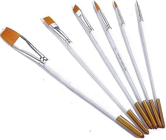 6Pcs Art Painting Brushes Acrylic Oil Watercolor Artist Paint Brush Dulcet Set