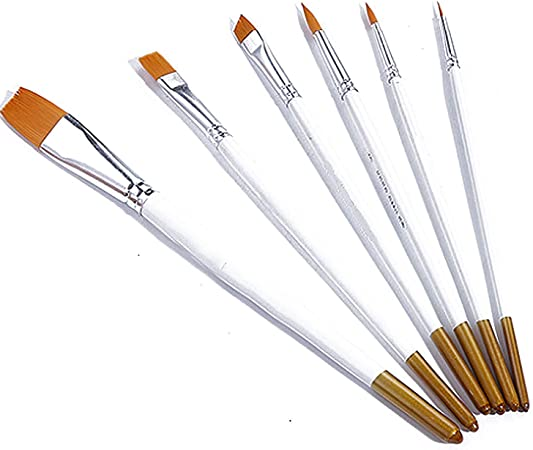 6Pcs//Set Art Painting Brushes Acrylic Oil Watercolor Artist Paint Brush New