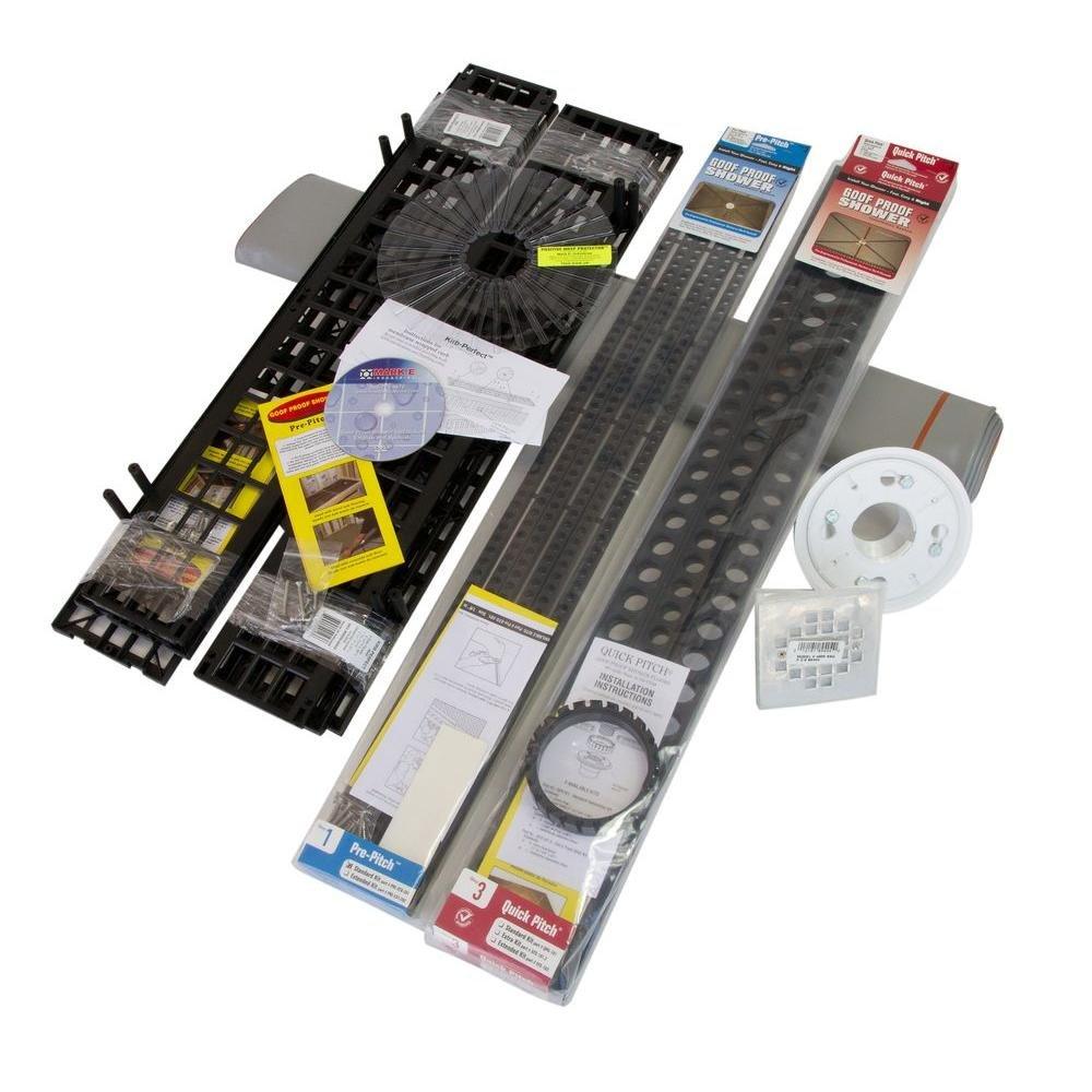 Goof Proof Standard Liner//Drain Shower Floor Kit Mark E Industries Inc SSK-501D