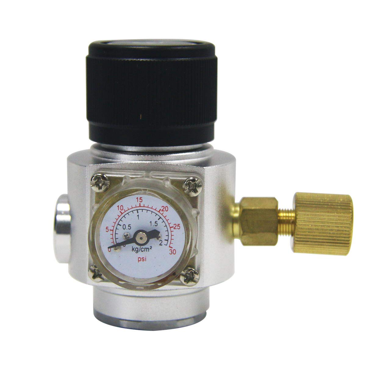 Keg Charger Mini CO2 Regulator - PERA Brand 0-30 PSI Beer Keg Mini Charger with 3/8'' thread for Home brew Beer Kegging