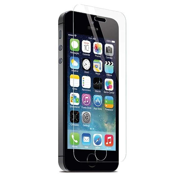 7a2205c212e Mica Cristal Templado Protector de Pantalla Para iPhone 5 5S 5C iPhone SE  Dureza 9H Grosor 0.33 mm: Amazon.com.mx: Electrónicos