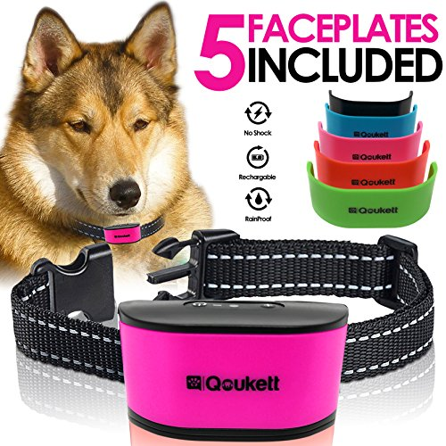 Bark Collar, Humane Barking Collar {2018 Upgrade} Rechargeable No Shock Anti Bark For Small To Medium Dogs, Adjustable Sensitivity Levels Sound Beep & Vibration Pet Training | Rechargeable Battery