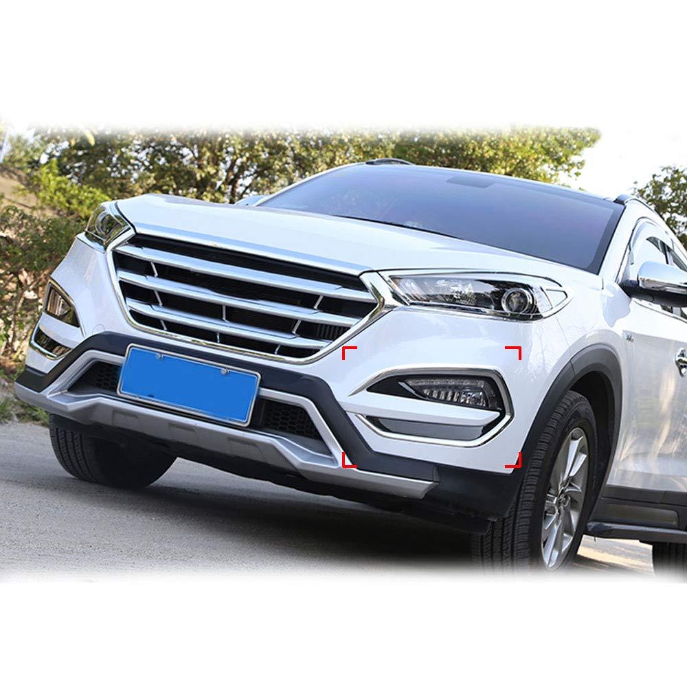 AUTOCLUB 4PCS Silver Chrome Trim Bezel Molding Taillight Rear Lamp Cover for Hyundai Sonata 2015 2016 2017