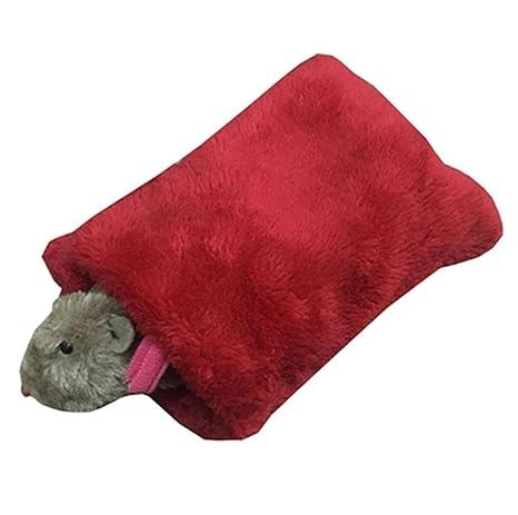 Saco de dormir pequeño para mascotas, hamster para colgar, acogedor, cama, taza