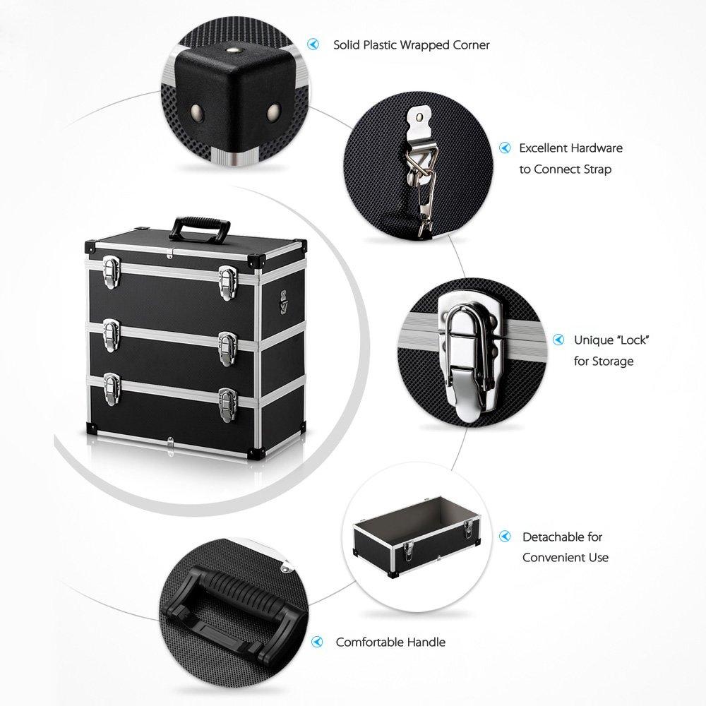 iKayaa Large Portable Hard Storage Box Carrying Case for Tools, Fishing Tackle 3 Layer by IKAYAA (Image #3)
