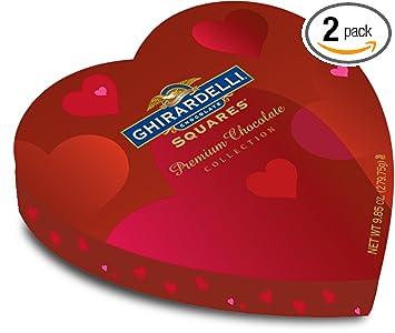 Amazon Com Ghirardelli Valentine S Chocolate Squares Premium
