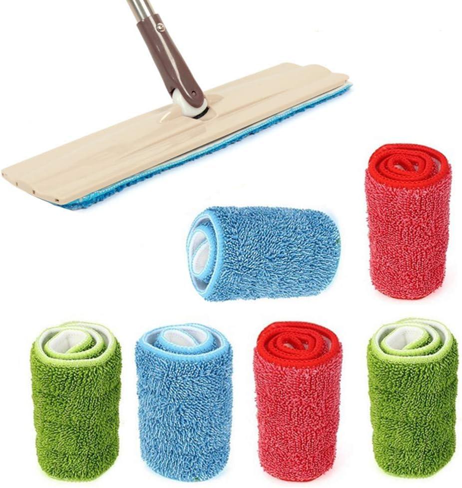6/pi/èces Spry Balai /à franges en microfibre Tampons de nettoyage EN BOIS dur Tampon de nettoyage pour sols et t/êtes de remplacement pour humide//sec Mops Balai Microfibre Pads
