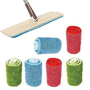 12cm Qualsen Almohadillas para Trapeador Repuesto de Microfibra Almohadillas de Fregona para Limpieza de Pisos Almohadilla H/úmeda Lavable Reutilizable 33 4 Piezas